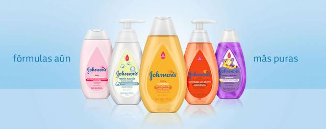 botellas productos johnsons