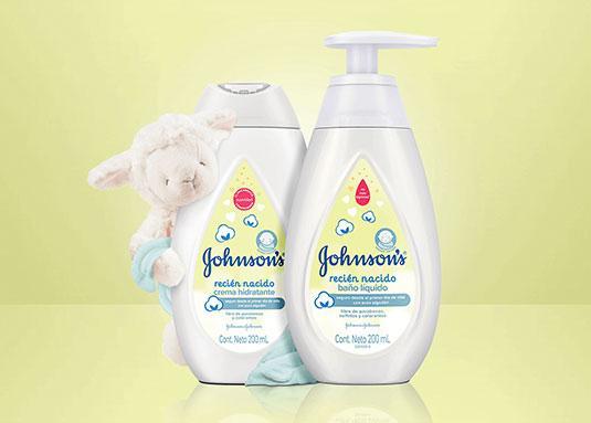 Botellas de productos Johnson's